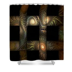 Shower Curtain featuring the digital art The Indomitability Of The Idea by Casey Kotas