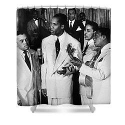 The Ink Spots, C1945 Shower Curtain by Granger