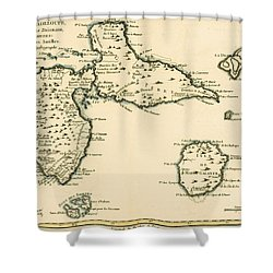 The Islands Of Guadeloupe Shower Curtain by Guillaume Raynal