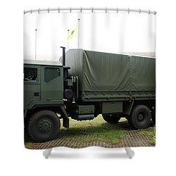 The Iveco M250 8 Ton Truck Used Shower Curtain by Luc De Jaeger