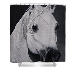 The Ivory Queen Shower Curtain by Kayleigh Semeniuk