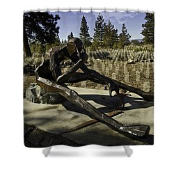 Shower Curtain featuring the photograph The Korean Veteran by Larry Depee