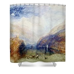 The Lauerzersee With The Mythens Shower Curtain by Joseph Mallord William Turner