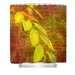 The Leaves Of Yesteryear Shower Curtain by Judi Bagwell