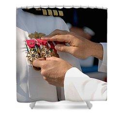 The Legion Of Merit Medal Shower Curtain by Stocktrek Images