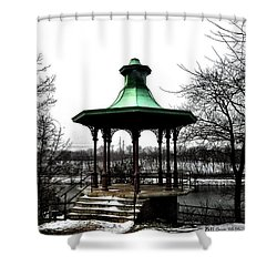 The Lemon Hill Gazebo - Philadelphia Shower Curtain by Bill Cannon