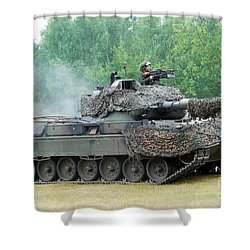 The Leopard 1a5 Main Battle Tank Shower Curtain by Luc De Jaeger