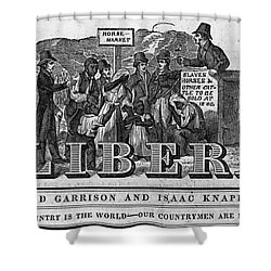 The Liberator Masthead Shower Curtain by Photo Researchers