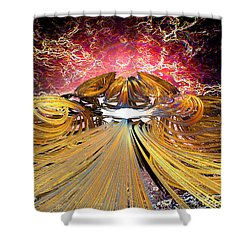 The Light At The End Of The Tunnel Shower Curtain by Michael Durst