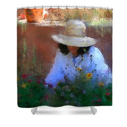 The Light Of The Garden Shower Curtain