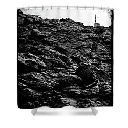 Shower Curtain featuring the photograph The Lighthouse1 by Pedro Cardona