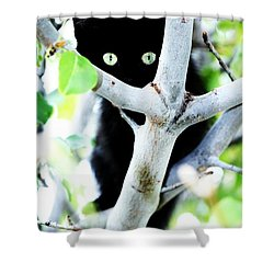Shower Curtain featuring the photograph The Little Huntress by Jessica Shelton