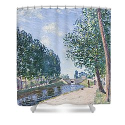 The Loing Canal At Moiret Shower Curtain by Alfred Sisley
