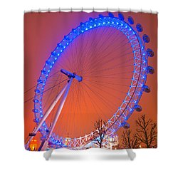 Shower Curtain featuring the photograph The London Eye by Luciano Mortula