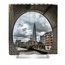 The London Shard Shower Curtain by Dawn OConnor