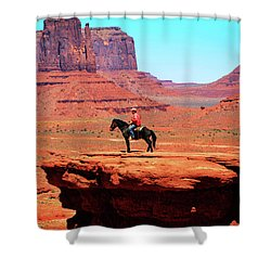 The Lone Indian Shower Curtain
