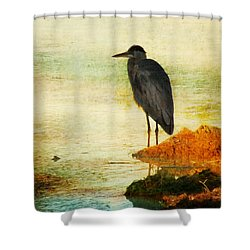 The Lonely Hunter Shower Curtain by Amy Tyler