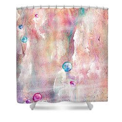 The Lost Marbles Shower Curtain by Rachel Christine Nowicki