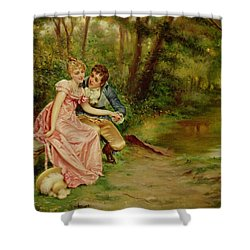 The Lovers Shower Curtain by Joseph Frederick Charles Soulacroix
