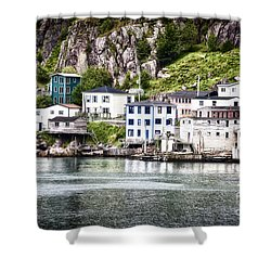 The Lower Battery Shower Curtain by Verena Matthew