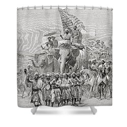 The Maharaja Of Baroda, India Riding An Shower Curtain by Ken Welsh