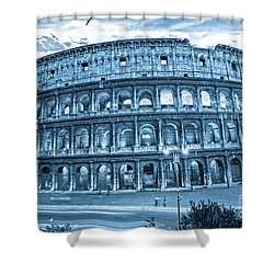The Majestic Coliseum Shower Curtain by Luciano Mortula