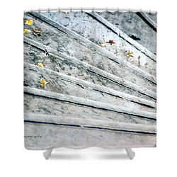 The Marble Steps Of Life Shower Curtain by Vicki Ferrari