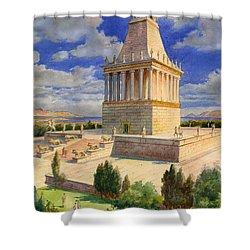 The Mausoleum At Halicarnassus Shower Curtain by English School