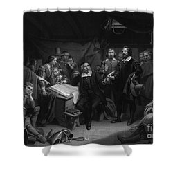 The Mayflower Compact, 1620 Shower Curtain by Photo Researchers