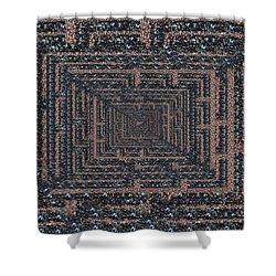 The Maze Shower Curtain by Tim Allen