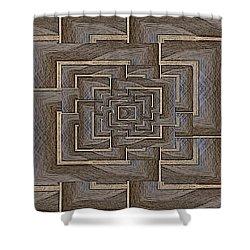 The Maze Within Shower Curtain by Tim Allen