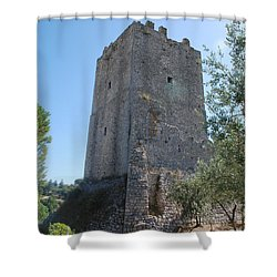 Shower Curtain featuring the photograph The Medieval Tower by Dany Lison