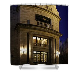 The Meeting Place Shower Curtain by Lynn Palmer