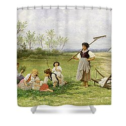 The Midday Rest Shower Curtain by Franciszek Streitt