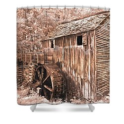 The Mill At Cade's Cove Shower Curtain by Debra and Dave Vanderlaan