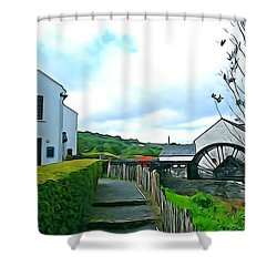 Shower Curtain featuring the photograph The Mill by Charlie and Norma Brock