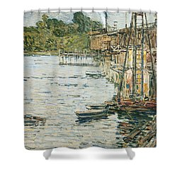 The Mill Pond Shower Curtain by Childe Hassam
