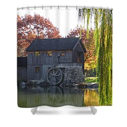 The Millhouse Shower Curtain by Julia Wilcox