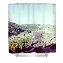 Shower Curtain featuring the photograph The Mine by Bonfire Photography