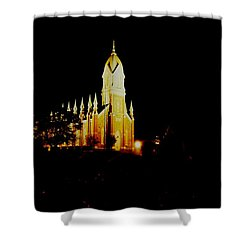 The Morman Temple In Brigham City Shower Curtain by Jeff Swan