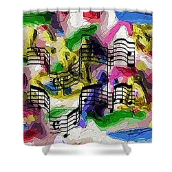 Shower Curtain featuring the digital art The Music In Me by Alec Drake