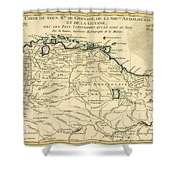 The New Kingdoms Of Grenada Shower Curtain by Guillaume Raynal