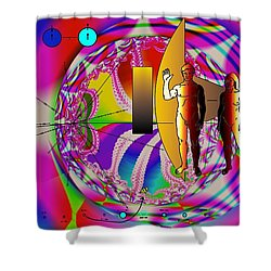 The New View Of Science Shower Curtain by Helmut Rottler