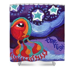 The Night Sky Shower Curtain by Genevieve Esson
