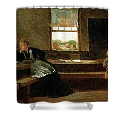The Noon Recess Shower Curtain by Winslow Homer