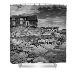 The Old Fisherman's Hut Bw Shower Curtain by Heiko Koehrer-Wagner