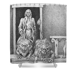 The Old Man's Dogs Shower Curtain