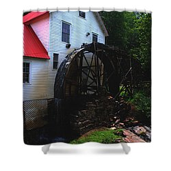 The Old Mill 1886 In Cherokee North Carolina - II  Shower Curtain by Susanne Van Hulst