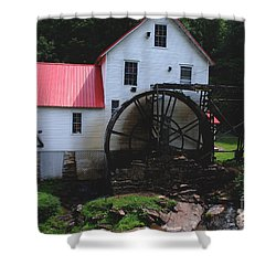 The Old Mill 1886 In Cherokee North Carolina Shower Curtain by Susanne Van Hulst
