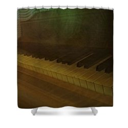 The Old Piano Shower Curtain by Donna Blackhall